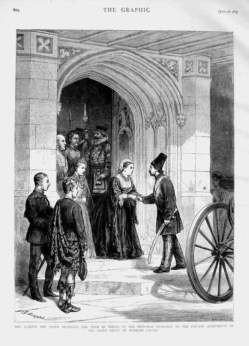 دیدار ناصرالدین شاه و ملکه ویکتوریا در سفر اول فرنگستان ( ژوئن 1873- قصر ویندزور)
