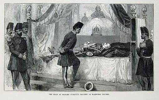 دیدار ناصرالدین شاه از موزه مادام توسو در سفر اول فرنگستان ( 1290 ه.ق - 1873م )