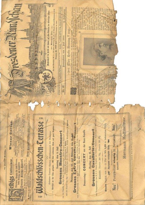 صفحه اول روزنامه پیدا شده در تابلوی مظفرالدین شاه فاجار