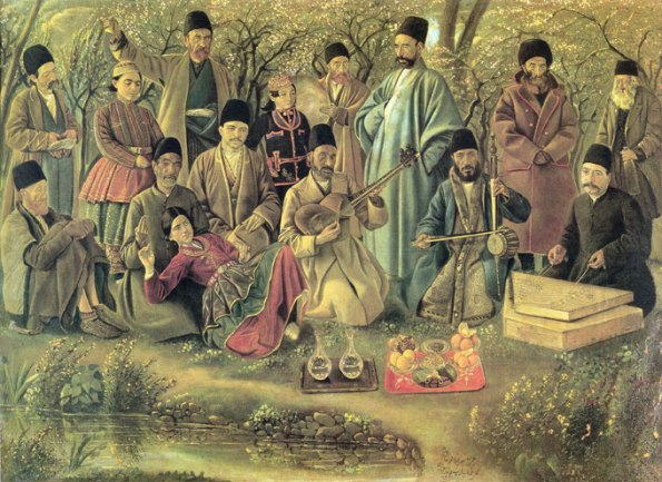 عمله طرب ، اثر مرحوم کمال الملک ، 1302 ه.ق، نگارخانه کاخ گلستان.